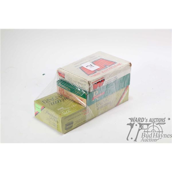 Selection of .375 H&H Magnum ammunition including 14 rounds of Winchester , 13 rounds of Remington 2