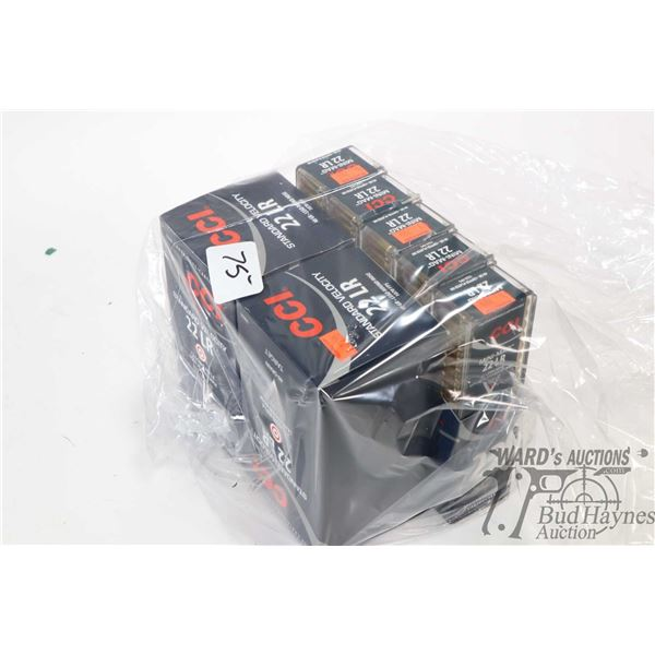 1000 rounds of CCI .22 LR standard velocity and 500 rounds of CCI .22 LR Mini-Mag