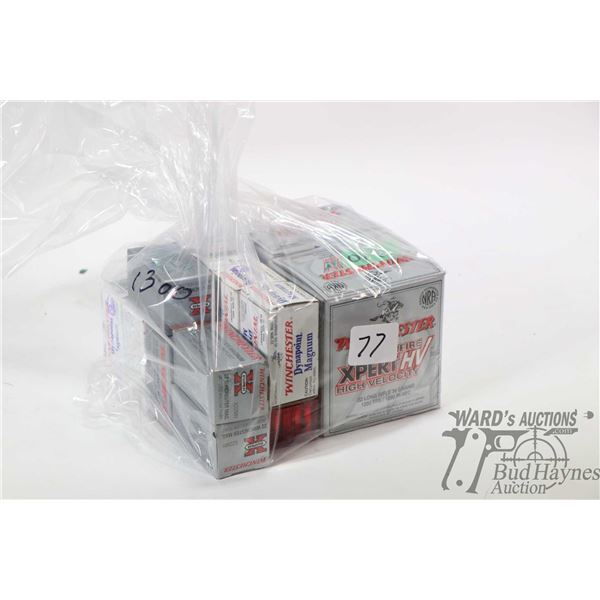 Large selection of .22 LR including full 500 count box of Winchester Xpert HV plus second box contai