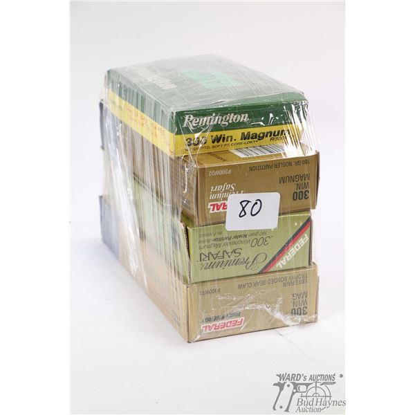 Selection of .300 Win Mag. including three full 20 count boxes of Federal including one box of 180 g