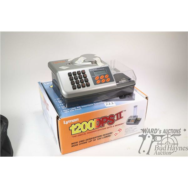 Lyman 1200 DPS II Enhanced digital scale, includes power supply and accessories in original box, not