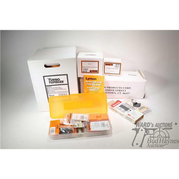 New in box Lyman Turbo Tumbler Item no. 7631327, Lyman  1.7 lb box of Ceramic Tumbler media. Lyman p