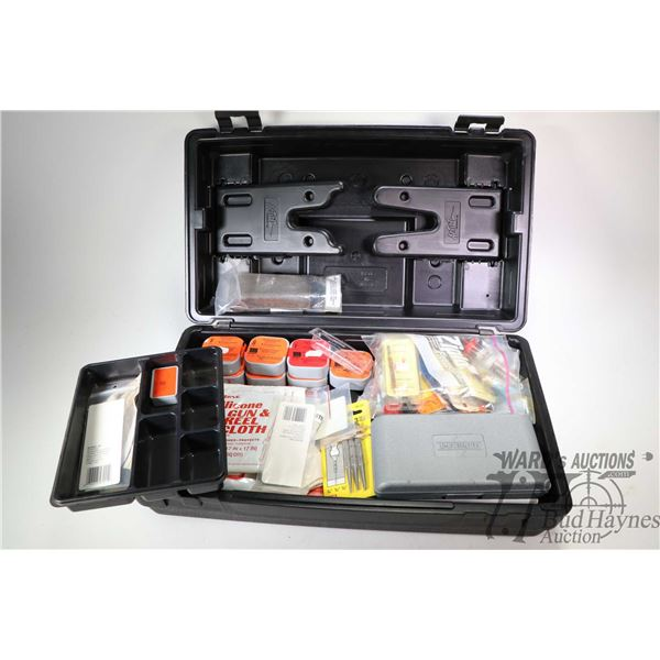 Action Products Gun Care caddy/cleaning station and contents including brushes, patches, screwdriver