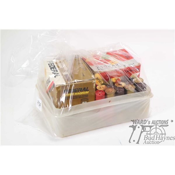 """Selection of 3 1/2"""" 10 gauge ammunition including full 25 count box of Federal No. 2 shot 2 oz. , an"""