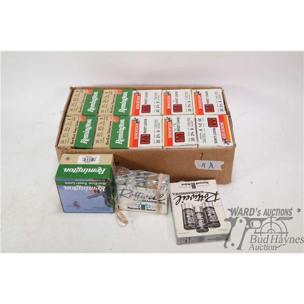 "Eleven 25 count boxes of 20 gauge 2 3/4"" ammunition including five boxes of Remington 7/8 oz. 9shot"