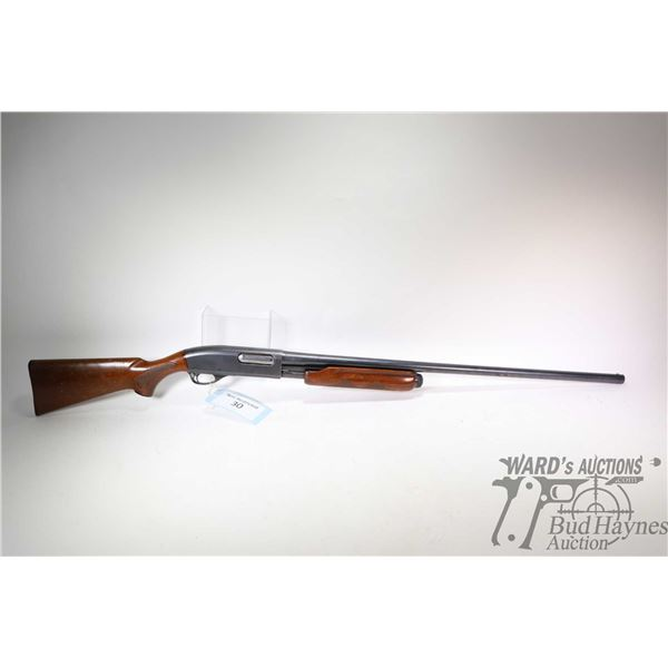 Non-Restricted shotgun Remington model Wingmaster 870, 12Ga 2 3/4  pump action, w/ bbl length 30  [B