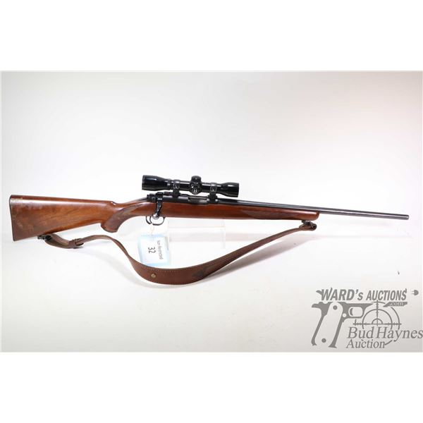 "Non-Restricted rifle Ruger model 77/22, .22 LR ten shot bolt action, w/ bbl length 20"" [Blued barrel"