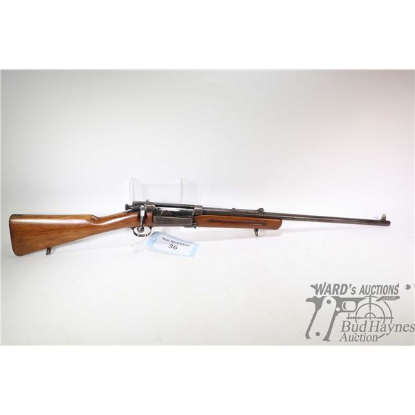 "Non-Restricted rifle Krag Jorgensen model 1899, 30/40 US bolt action, w/ bbl length 22"" [Blued barre"