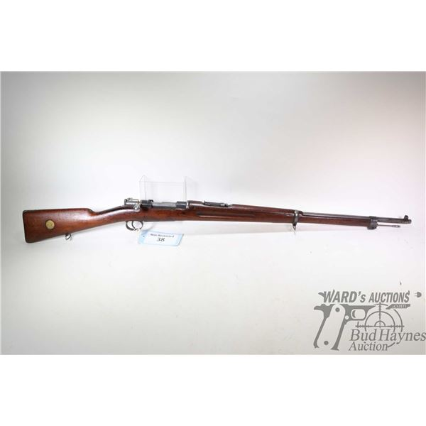 "Non-Restricted rifle Carl Gustafs model 1902, 6.5X55mm bolt action, w/ bbl length 29 1/2"" [Blued bar"