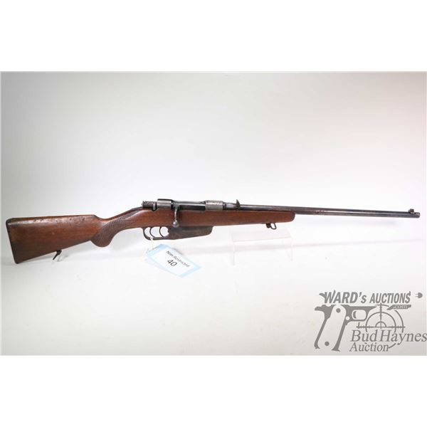 Non-Restricted rifle Italian Carcano model Sporterized, 6.5mm bolt action, w/ bbl length 20  [Blued