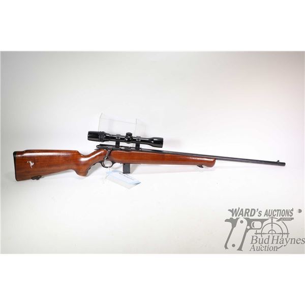 "Non-Restricted rifle Mossberg model 140K, 22 S-LR bolt action, w/ bbl length 24 1/2"" [Blued barrel a"