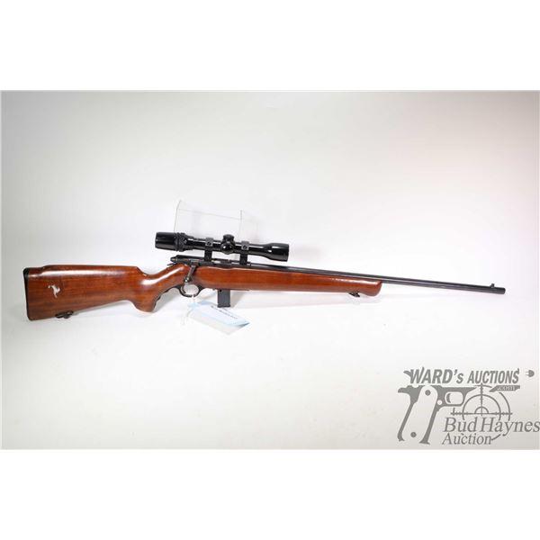 Non-Restricted rifle Mossberg model 140K, 22 S-LR bolt action, w/ bbl length 24 1/2  [Blued barrel a