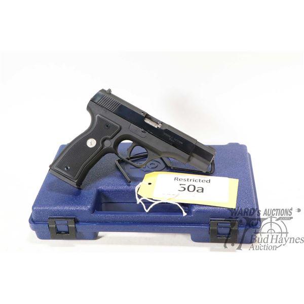 Restricted handgun Colt model Mod. 2000 (All American), 9mm ten shot semi automatic, w/ bbl length 1