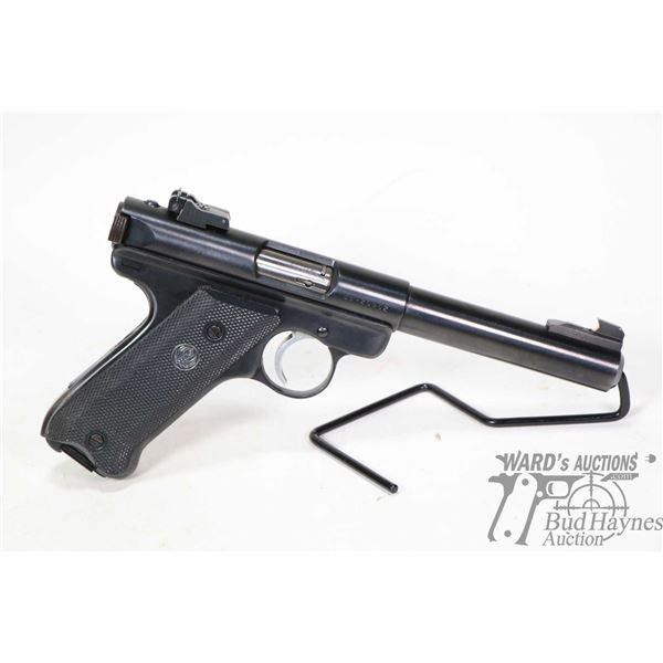 Restricted handgun Ruger model Mark II Target, .22 LR ten shot semi automatic, w/ bbl length 140mm [