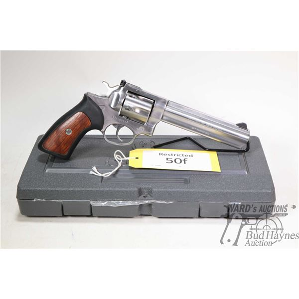 Restricted handgun Ruger model GP100, .357 Mag six shot double action revolver, w/ bbl length 152mm