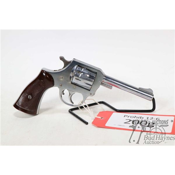 Prohib 12-6 handgun H&R model 923, .22 LR ten shot double action revolver, w/ bbl length 102mm [Plat