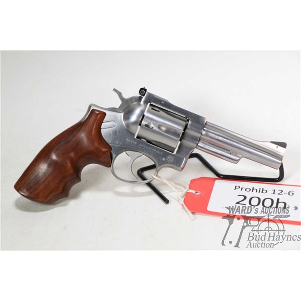 Prohib 12-6 handgun Ruger model Security Six, .357 Magnum six shot double action revolver, w/ bbl le