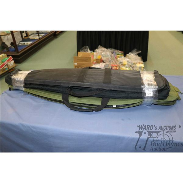 Three soft rifle cases. Note: Not available for shipping. Local pickup only