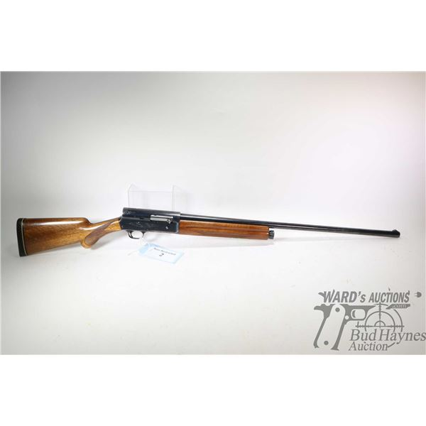"Non-Restricted shotgun Browning model Auto-5, 12Ga 2 3/4"" semi automatic, w/ bbl length 29 1/2"" [Blu"