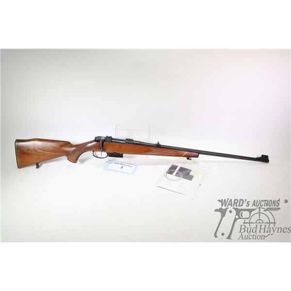 Non-Restricted rifle BRNO model Fox-Mod 2, 22 Hornet bolt action, w/ bbl length 23 1/2  [Blued barre