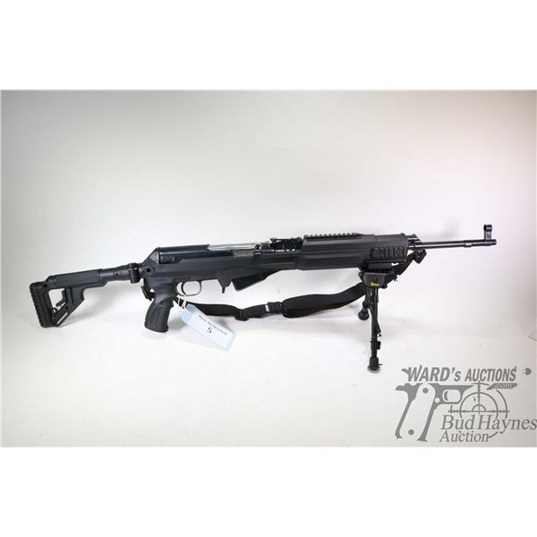 "Non-Restricted rifle Russian model SKS, 7.62X39mm five shot semi automatic, w/ bbl length 20 1/2"" [B"