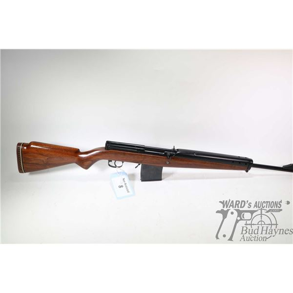 "Non-Restricted rifle Custom model SVT, 7.62X54R five rounds semi automatic, w/ bbl length 20"" [Black"