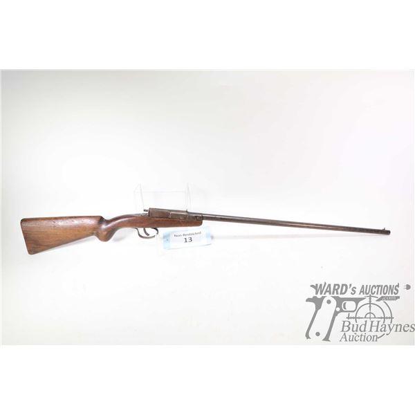 Non-Restricted rifle Deutsche Werke model youth rifle model 1, 22LR Single Shot breech block, w/ bbl