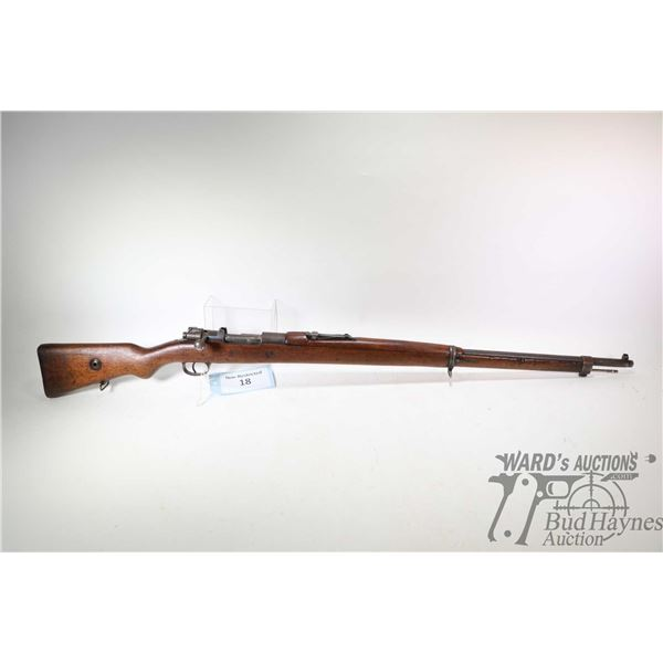 Non-Restricted rifle Turkish T.C ANKARA Mauser model 1903, 8mm Mauser bolt action, w/ bbl length 29
