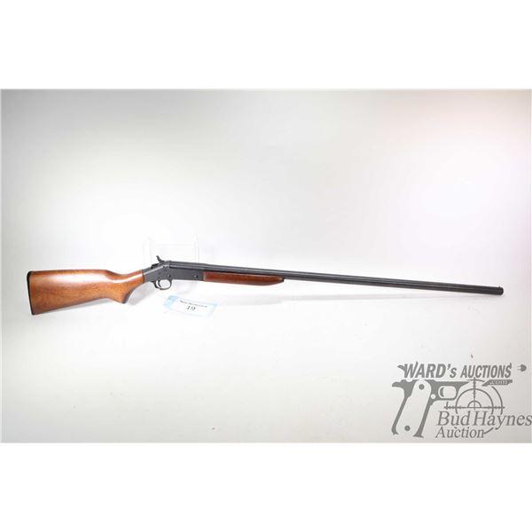 Non-Restricted shotgun H&R model Pardner, 12Ga 3  Single Shot hinge break, w/ bbl length 36  [Blued