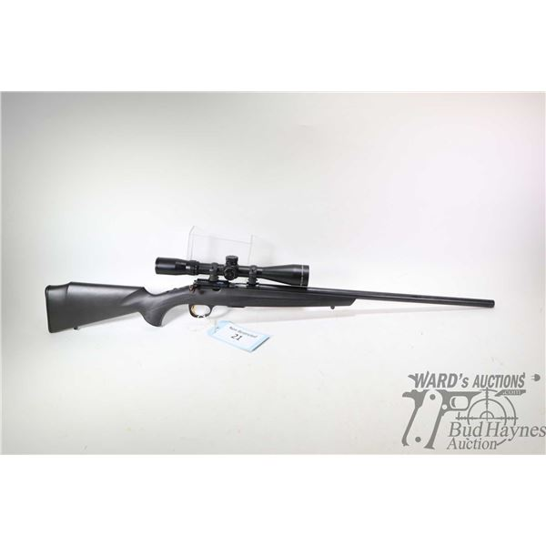 "Non-Restricted rifle Browning model T-Bolt, 17 HMR bolt action, w/ bbl length 22"" [Blued barrel and"