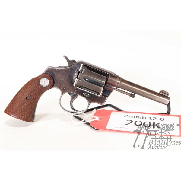 Prohib 12-6 handgun Colt model Police Positive Special, .32-20 WCF six shot double action revolver,