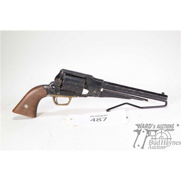 Antique handgun Remington model 1858, unknown caliber six shot single action, w/ bbl length 204mm [O