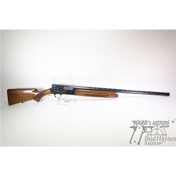 "Non-Restricted shotgun Browning model Auto-5 Light Twelve, 12Ga 2 3/4"" semi automatic, w/ bbl length"