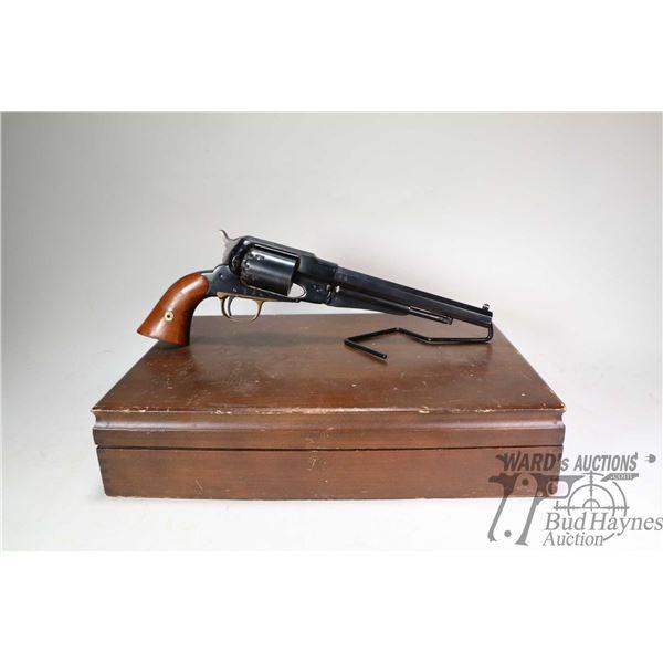 Restricted handgun Navy Arms model 1858 Remington Replica, .44 Perc six shot single action, w/ bbl l