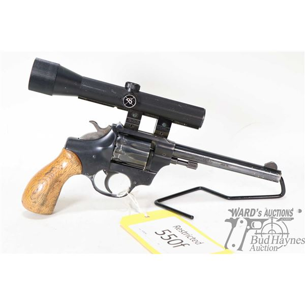 Restricted handgun High Standard model Sentinel (R-103), . 22 LR nine shot double action revolver, w
