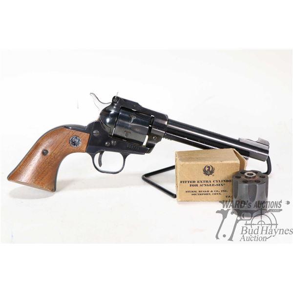 Restricted handgun Ruger model Single-Six, .22 LR & .22 WMR six shot semi automatic, w/ bbl length 1