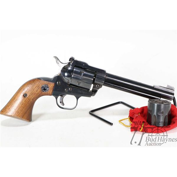 Restricted handgun Ruger model Single-Six, .22 LR & .22 WMR six shot single action, w/ bbl length 13