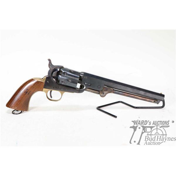 Restricted handgun Euroarms model Navy Model, .36 Cal six shot single action, w/ bbl length 189mm [B