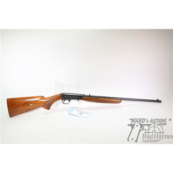 "Non-Restricted rifle Browning model SA-22, .22 LR semi automatic, w/ bbl length 19"" [Blued barrel an"