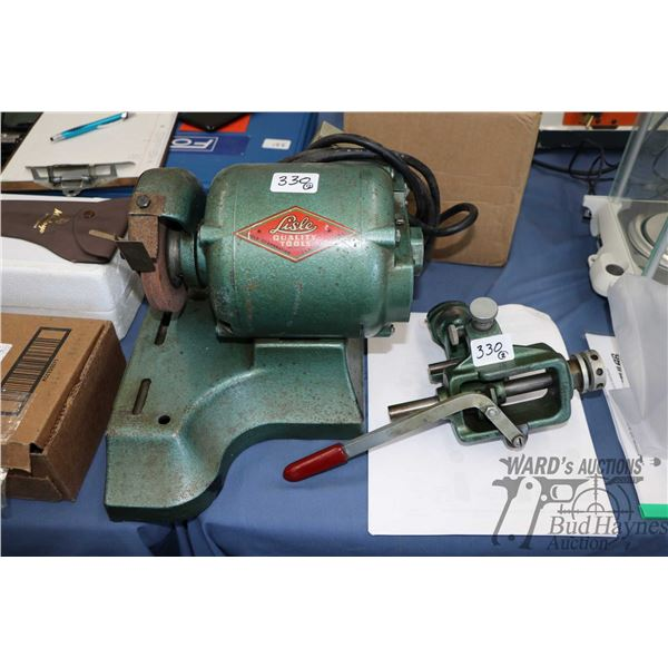 Lisle Quality Tools model 9100 drill grinder with downloaded printed manual, appears to be mostly co