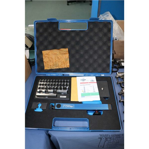 "Fowler bore gauge setting master kit 0-4"" including 36 piece gauge blocks in foam lined hard case wi"