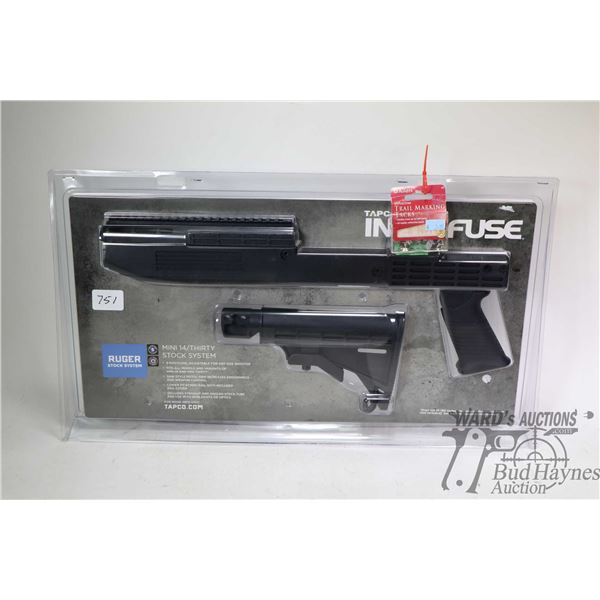 Tapco Intrafuse Mini 14/thirty stock system, new in package and a package of reflective trail markin