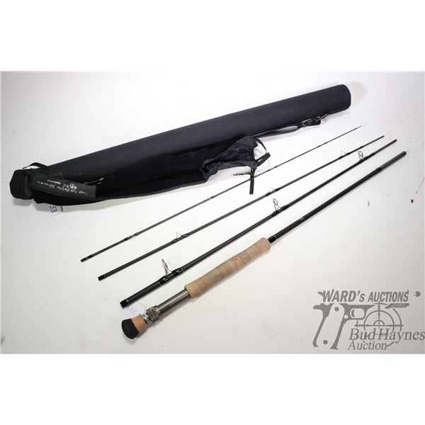 Temple Fork Outfitter TiCr 9 weight, 9' four piece Signature series fly rod with sleeve and case, ap