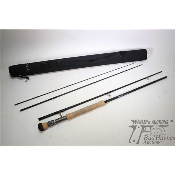 Temple Fork Outfitter TiCr 10 weight, 9' four piece Signature series fly rod with sleeve and case, a