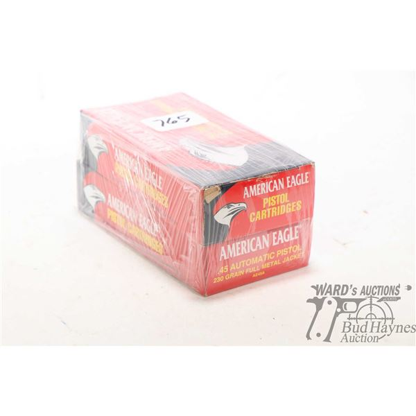 One 50 count boxes of American Eagle .45 Auto 230 grain Metal case bullets and one 50 count box of A