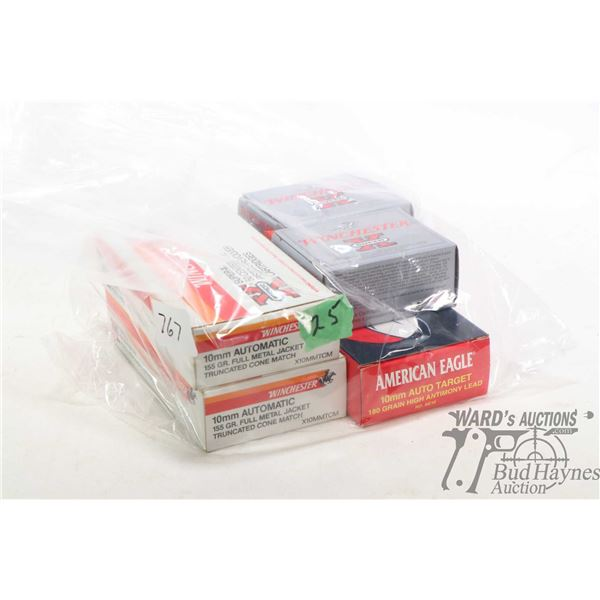Selection of ammunition including one 50 count box of American Eagle 10mm Auto Target 180 grain high