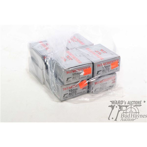 Eight 25 count boxes of Winchester 10mm Auto 175 grain Silvertip HP