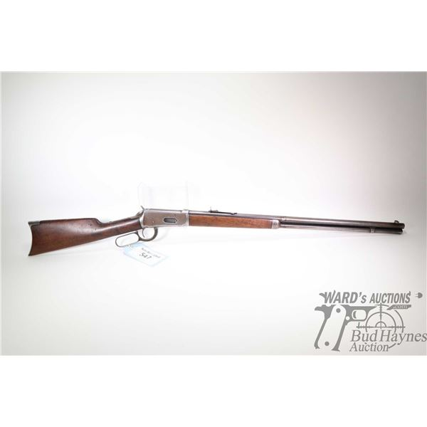 """Non-Restricted rifle Winchester model 1894, .30-55 lever action, w/ bbl length 26"""" [Blued barrel, re"""