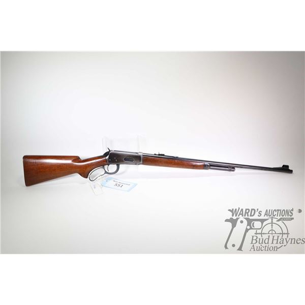 """Non-Restricted rifle Winchester model 64, .32 WS lever action, w/ bbl length 24 1/4"""" [Blued barrel,"""