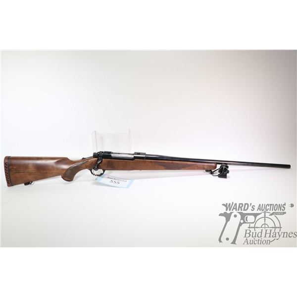 """Non-Restricted rifle Ruger model M77, .30-06 Sprg bolt action, w/ bbl length 22 1/2"""" [Gloss blued ba"""